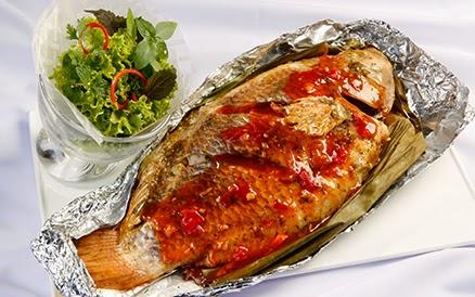 Cá diêu hồng nướng rau răm cực đơn giản và ngon miệng