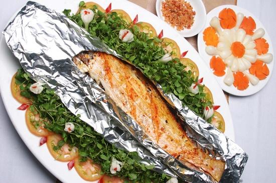 cá basa nướng giấy bạc
